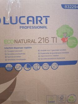 Еко натурални салфетки за маса лист по лист Диспенсърни  Lucart E-ONE 6000бр
