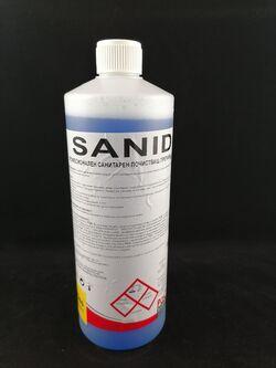 Силно киселинен препарат за почистване на санитарен фаянс,образуващ защитен филм Пачико SANID 1.2кг