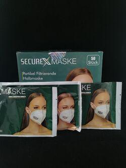 3D Маска за лице с FFP2 защита единично опаковани 50бр